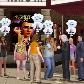 Sims 3 Karriere Musik - Auogrammstunde
