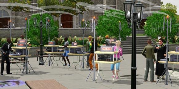 Sims 3 Studium der Kommunikation - Kurs mit Mobiler Radiostation