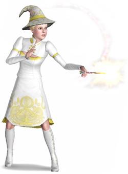 Gute Hexe wirkt Verzauberung
