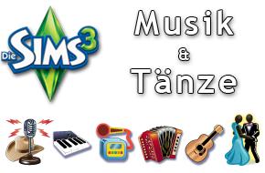 Die Sims 3 Musik und Tänze