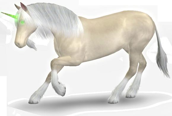 Sims 3 Einhorn - Segnung mit grünem Horn