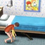 Bett nach Monstern absuchen