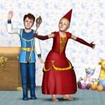 Prinz und Prinzessin spielen
