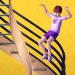 Treppengeländer runterrutschen