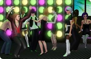 Sims-Party mit voller Tanzfläche