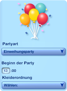 Die Sims 3 Partyplaner