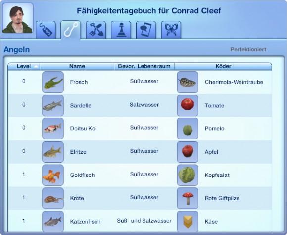 Die Sims 3 Fähigkeitstagebuch – Angeln