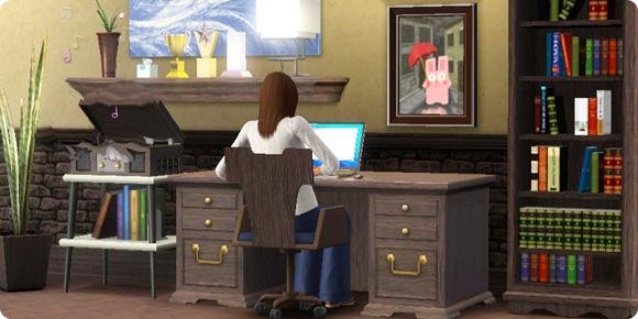 Arbeitszimmer eines Schriftstellers
