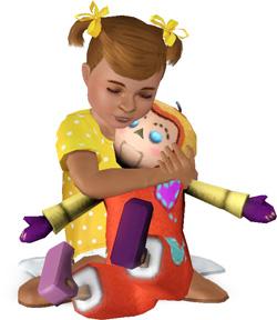 Freundschaft zur Puppe aufbauen