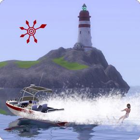 Die Sims 3 Inselparadies – Wasserski-fahren