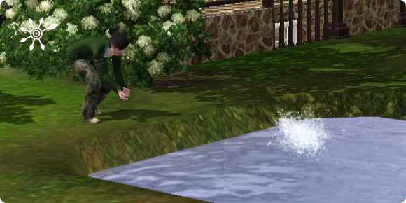 Fanbecken mit Option Teich auffüllen bestücken