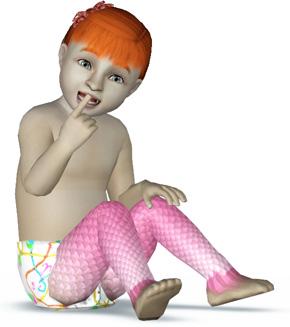 Meerjungfrau-Kleinkind mit schuppigen Beinen