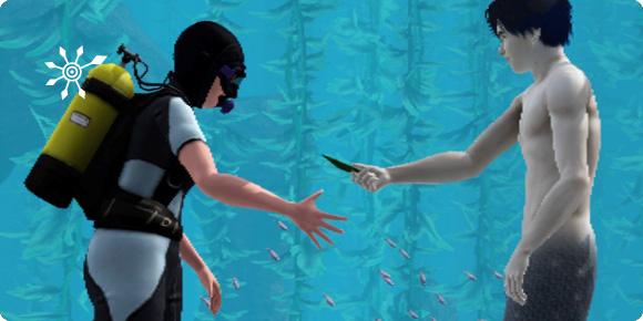 Nach Fischkörperteilen fragen und Meerjungfrauen-Tang erhalten