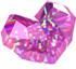 Pinker Diamant in Herzschliff