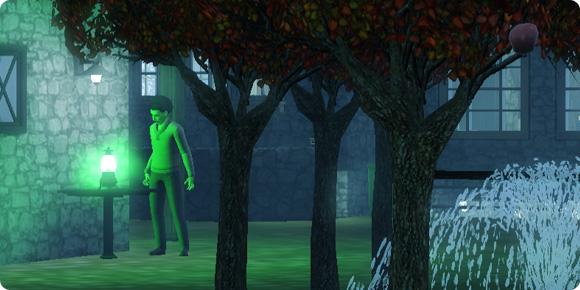 Zombies betrachtet Stimmungsspektrum-Lampe