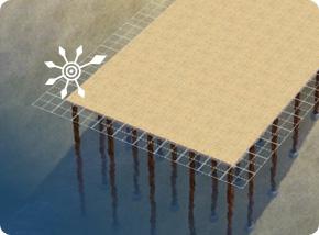 Stelzenfundamente mit unterschiedlichen Höhen: Fundament bauen