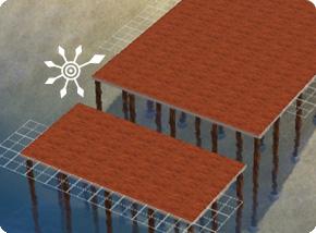 Stelzenfundamente mit unterschiedlichen Höhen: Bodenbelag verlegen