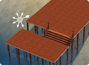 Stelzenfundamente mit unterschiedlichen Höhen: Fundamente mit Treppe verbinden