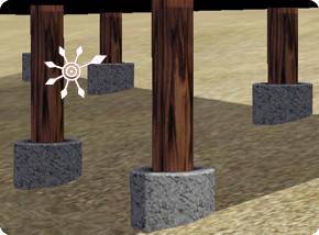 Sims 3 Stelzenfundamente aus Holz