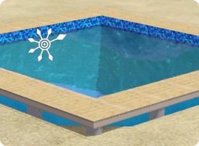Pool auf Stelzenfundament