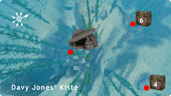 Tauchbezirk Davy Jones' Kiste – Lageplan