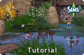 Die SIms 3 Tutorial Badesee oder Schwimmteich bauen