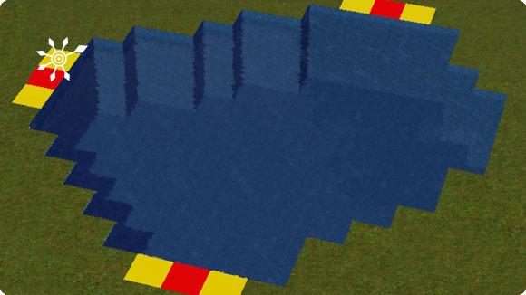 dunkelblaue Poolfärbung