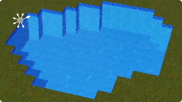 Pool für den Badesee bauen