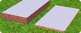 Fundamente mit der Höhe einer einer Stufe