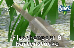 Die Sims 3 Flaschenpost und Kartenstücke finden