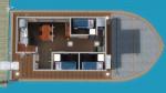 Hausboot zum Wohnen – Grundriss 1. Deck