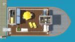 Hausboot zum Wohnen – Grundriss Sonnendeck