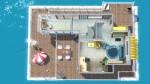 Komfortables Wohnboot – Grundriss Oberdeck