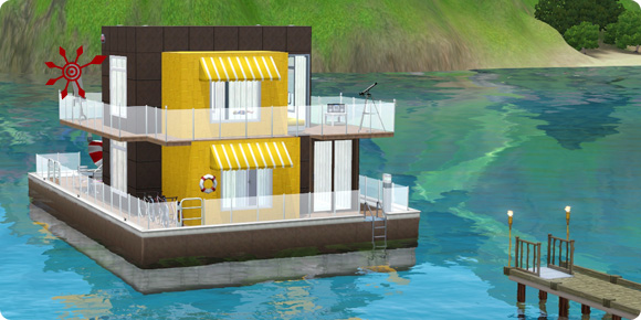 sims 3 hausboote leben auf dem wasser. Black Bedroom Furniture Sets. Home Design Ideas