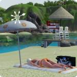 Die Sims Karriere Rettungsschwimmer – Badetuch und Schirm