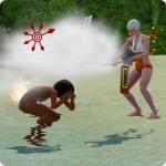 Die Sims Karriere Rettungsschwimmer – brennenden Sim löschen