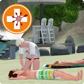 Sims 3 Wiederbelebung – Herz-Druck-Massage