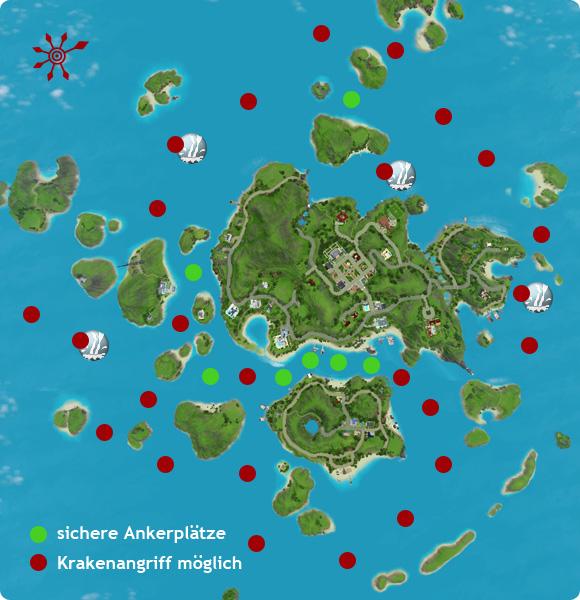 Die Sims 3 Kraken: Gefahrenkarte