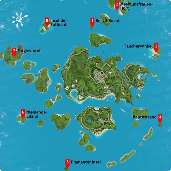 Überichstskarte: Aufdeckung aller unentdeckten Inseln