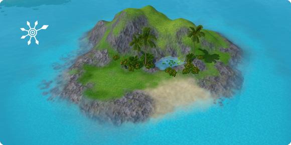 Unentdeckte Insel Beryll-Bucht
