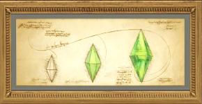 Gemälde Entwicklung des Diamanten