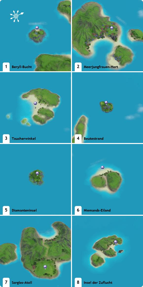 Größenverlgiech der Unentdeckten Inseln