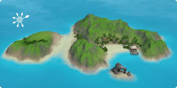 Unentdeckte Insel der Zuflucht