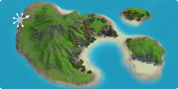 Unentdeckte Insel Meerjungfrauen-Hort