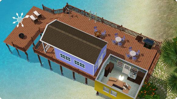 Strandhütte – Empfang in zusätzlicher Hütte