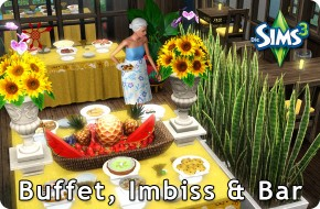 Sims 3 Resort managen – Buffet, Imbiss und Bar