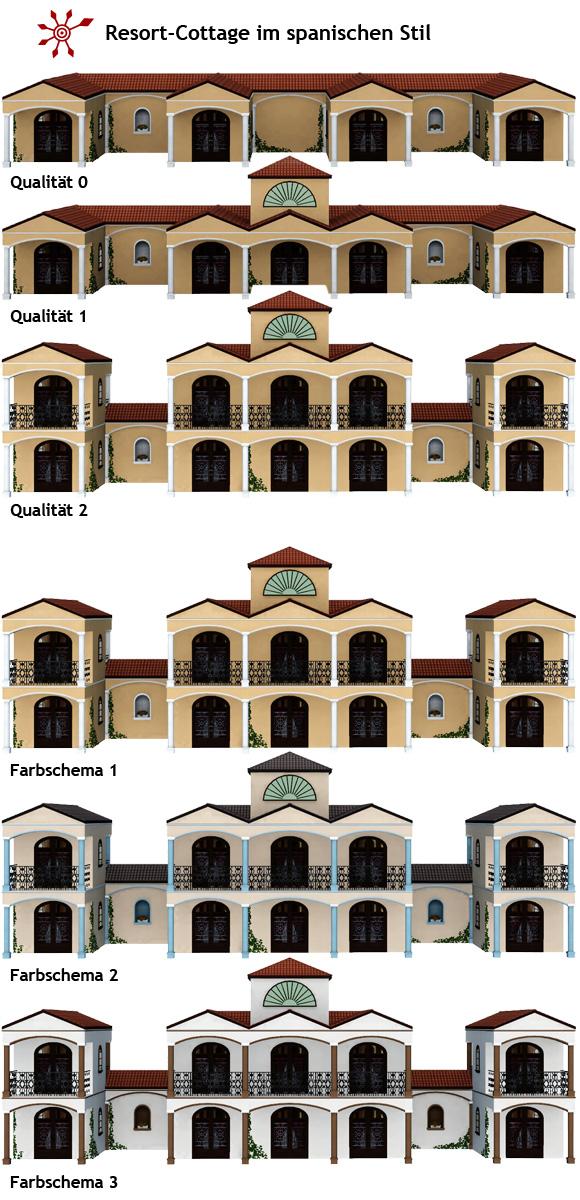 Sims 3 Resortkomplex Resort-Cottage im spanischen Stil