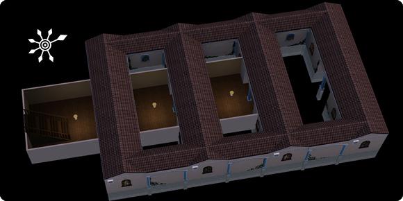 Resortkomplex im Keller verstecken