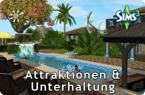 Die Sims 3 Resorts – Unterhaltung und Attraktionen