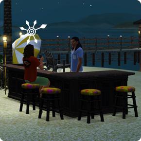 5-Sterne-Resort – Strandbar